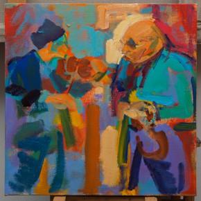37 Shi Yu, Vibrato of the Devil No.10, oil on canvas, 50 x 50 cm, 2015