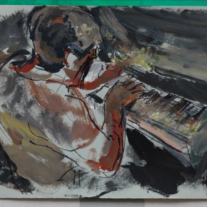 47 Shi Yu, Sonata No.8, acrylic on paper, 30 x 40 cm, 2015