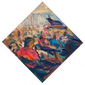 49 Shi Yu, Sonata No.4, oil on board, 30 x 40 cm, 2015