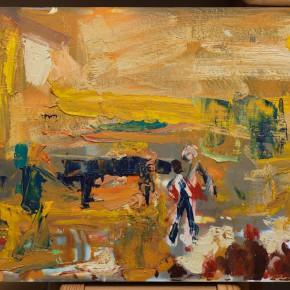 50 Shi Yu, Sonata No.3, oil on canvas, 50 x 50 cm, 2015