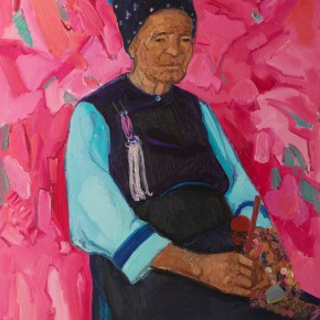 67 Shi Yu, Old Golden Flower No.1, oil on canvas, 100 x 80 cm, 2014