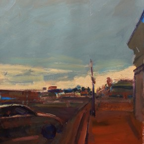 69 Shi Yu, Highway 66 – Williams Town No.2, oil on paper, 76 x 55 cm, 2014