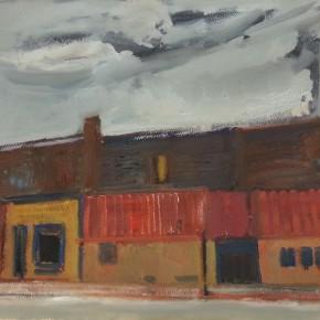 71 Shi Yu, Highway 66 – Pontiac City, oil on paper, 76 x 55 cm, 2014