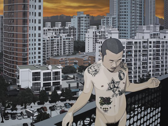 Chen Fei, I am the Jungle, 2015; Acrylic on linen, 180x240cm