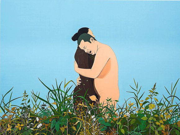 Chen Fei, Romance of the Mute, 2014; Acrylic on linen, 180x240cm