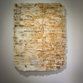 """Deng Dafei Stone Carving of Brightness of Eyes carving of ruins rubbing on rice paper 142 x 110cm 290x290 - BETWEEN ART LAB presents Deng Dafei's """"Project of Ruin: Barbarous Regeneration"""""""