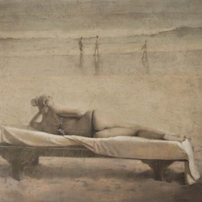 He Jun, Beach, 2012; Oil on canvas, 200x150cm