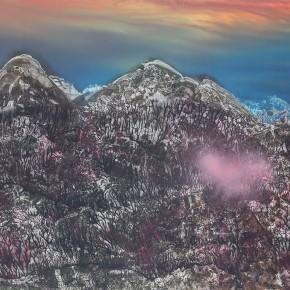 LR.Pekin Fine Arts. Wesley Tongson. Landscape 02. 66x96cm.2002.Chinese Ink Painting 290x290 - Pékin Fine Arts presents Wesley Tongson Solo Exhibition in Beijing