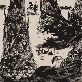 LR.Pekin Fine Arts. Wesley Tongson. Spiritual Mountains No. 1506Ink on Xuan Paper180 x 97 cm2012 290x290 - Pékin Fine Arts presents Wesley Tongson Solo Exhibition in Beijing