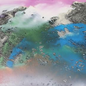 LR.Pekin Fine Arts. Wesley Tongson.Abstract No. 1627Ink and Color on Board40 x 60 cm Framed1997 290x290 - Pékin Fine Arts presents Wesley Tongson Solo Exhibition in Beijing