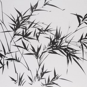 LR.Pekin Fine Arts. Wesley Tongson.Bamboo. 68.58x93.98cm.2005.Chinese Ink Painting 290x290 - Pékin Fine Arts presents Wesley Tongson Solo Exhibition in Beijing