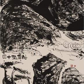 LR.Pekin Fine Arts. Wesley Tongson.Spiritual Mountains No. 1499Ink on Xuan Paper180 x 97 cm2012 290x290 - Pékin Fine Arts presents Wesley Tongson Solo Exhibition in Beijing