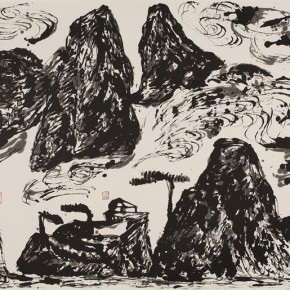 LR.Pekin Fine Arts. Wesley Tongson.Spiritual Mountains No. 577Ink on Xuan Paper.125 x 248 cm2010 290x290 - Pékin Fine Arts presents Wesley Tongson Solo Exhibition in Beijing