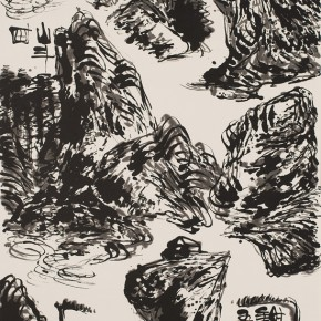 LR.Pekin Fine Arts. Wesley Tongson.Spiritual Mountains No. 840Ink on Xuan Paper180 x 97 cm2010 290x290 - Pékin Fine Arts presents Wesley Tongson Solo Exhibition in Beijing
