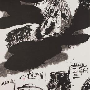 LR.Pekin Fine Arts. Wesley TongsonSpiritual Mountains No. 1058Ink on Xuan Paper180 x 97 cm2010 290x290 - Pékin Fine Arts presents Wesley Tongson Solo Exhibition in Beijing