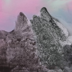 LR.SoldPekin Fine Arts. Wesley Tongson. Landscape. 66x96cm.1996.Chinese Ink Painting 290x290 - Pékin Fine Arts presents Wesley Tongson Solo Exhibition in Beijing