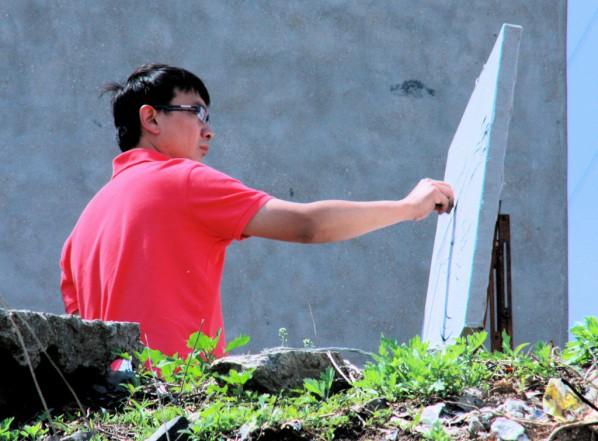 Portrait of Shi Yu in Yantai in 2009
