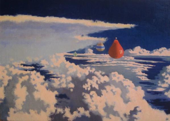 Wayne Yan, Antigravity Flying, 2015; Oil on canvas, 70x50cm