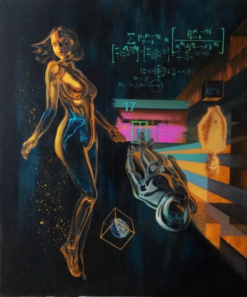 Wayne Yan, Future Formula, 2016; Oil on canvas, 130x110cm