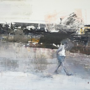 Wei Ershen, Quick Walkj in Summer, 2014; Oil on canvas, 80x110cm