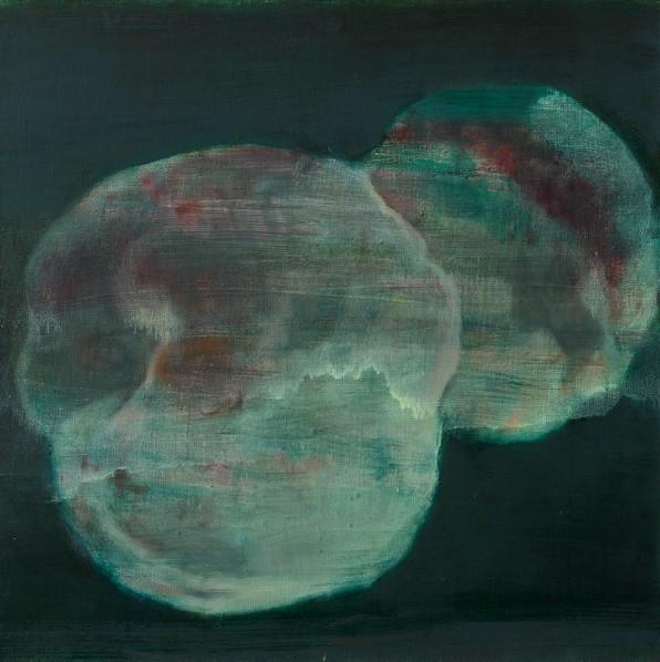 Xie Qi, Peaches, 2015; Oil on canvas, 70x70cm