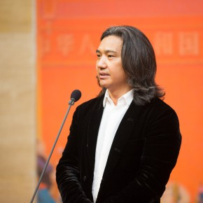 01 Director of the National Art Museum of China Wu Weishan addressed the opening ceremony