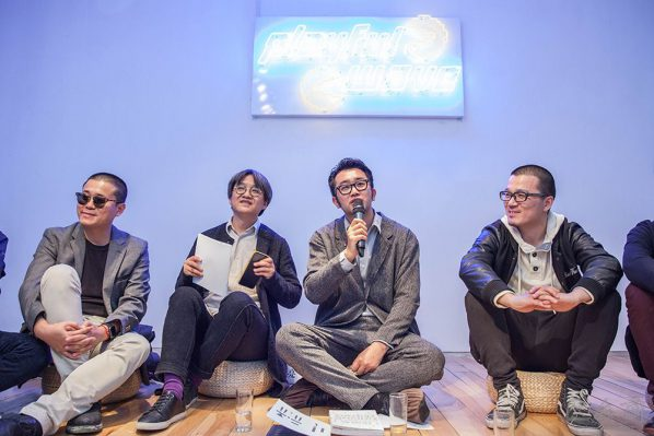 01 Originators of the Finding Friends project Wu Hongliang (the second on the left), Gao Peng (the third on the left)