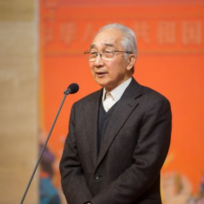02 Former President of CAFA Prof. Jin Shangyi addressed the opening ceremony
