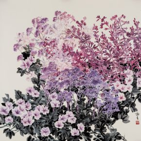"""02 Xie Qing Purple 123 x 123 cm 2016 290x290 - """"Blooming Season – Xie Qing's New Works Exhibition"""" opened at SZ Art Center"""