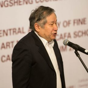 """03 President of Li Keran Academy of Painting Li Geng addressed the opening ceremony 290x290 - """"The Adamantine Soul – A Zhang Ping Retrospective"""" grandly opened at CAFA Art Museum"""