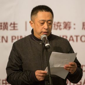"""04 Teacher of CAFA Liu Rong gave a speech on behalf of the students 290x290 - """"The Adamantine Soul – A Zhang Ping Retrospective"""" grandly opened at CAFA Art Museum"""
