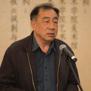 04 Wei Qimei's son Wei Husheng addressed the opening ceremony 290x290 - Humorous Form, Sagacious Thinking: Social Encyclopedia – An Exhibition of Wei Qimei's Cartoons Opened at CAFA Art Museum