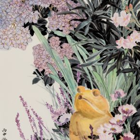 """04 Xie Qing Prince Frog 68 x 136 cm 2016 290x290 - """"Blooming Season – Xie Qing's New Works Exhibition"""" opened at SZ Art Center"""