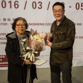 """06 Director of CAFA Art Museum Wang Huangsheng awarded the donation certificate to Zhang Ping's wife Wu Yingzhou 290x290 - """"The Adamantine Soul – A Zhang Ping Retrospective"""" grandly opened at CAFA Art Museum"""