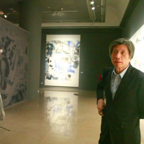 """07 Prof. Fan Dian President of the Central Academy of Fine Arts visited the exhibition 290x290 - Academic Righteousness during a Leisurely Tour: Yao Mingjing's """"Appearances Formed by Thoughts"""" Exhibiting at the National Art Museum of China"""