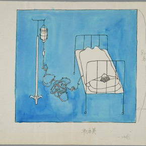09 Wei Qimei Untitled No.1 color manuscript paper ink writing brush poster color 290x290 - Social Encyclopedia – An Exhibition of Wei Qimei's Cartoons to be Presented at CAFA Art Museum