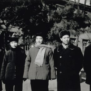 10 In 1958, group photo of the teachers from the Department of Oil Painting, CAFA, from left to right Dong Xiwen, Xu Xingzhi, Wu Zuoren, Luo Gongliu, Ai Zhongxin