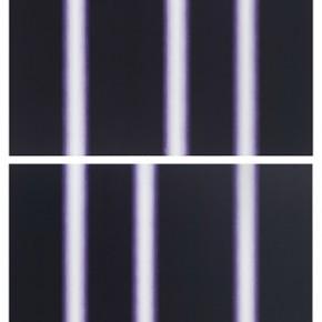 13 Su Yi Restraint Light Beam Peach Purple 1U ; Restraint Light Beam Peach Purple 2D 2015 Mixed Media on Canvas 160×180cm 290x290 - Abstraction x Geometry: Su Yi & Tang Mingwei Exhibiting at Asia Art Center in Beijing