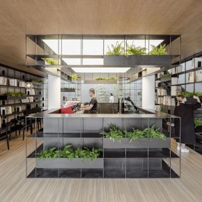 "14 Rongbaozhai Coffee Bookstore –Ground Floor No.2 290x290 - Architecture as a ""Medium"": the CAFA Young Teacher Han Wenqiang was awarded the ""A+ Award"""
