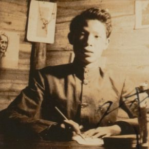 15 In 1935, Luo Gongliu self-studied painting in Guangdong