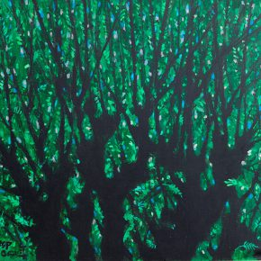 16 Luo Gongliu, Luxuriantly Green, mixed media, 150 x 180 cm, 2004, in the collection of Huamao Art Educational Museum in Zhejiang province
