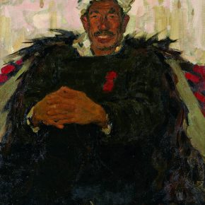 26 Luo Gongliu, The Man from Yan'an, oil painting, 89 x 71.5 cm, 1960, in the collection of National Art Museum of China