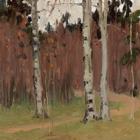 31 Luo Gongliu, Deep Autumn, oil on cardboard, 34.5 x 24.5 cm, 1958, collected by the family of the painter