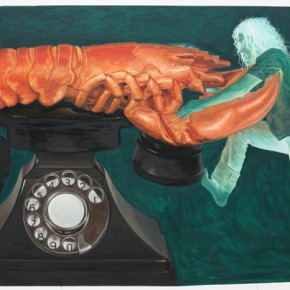 "Budi Kustarto Lobster Phone Acrylic on canvas 180x300cm 290x290 - Soka Art Center presents ""Behind Foreign Lands – Southeast Asian Contemporary Art"" featuring 17 artists"