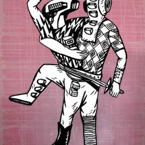"Eko Nugroho Fantasy 1 2008 Acrylic on canvas 200x150cm 290x290 - Soka Art Center presents ""Behind Foreign Lands – Southeast Asian Contemporary Art"" featuring 17 artists"
