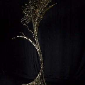 """Gabriel Barredo Swaying Tree of Life 2008 RubberFiber GlassAluminumMetal 63x65x230cm 290x290 - Soka Art Center presents """"Behind Foreign Lands – Southeast Asian Contemporary Art"""" featuring 17 artists"""