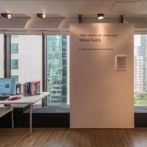 """Installation View 01 of Shilpa Gupta That photo we never got 2016 Photo by Kitmin Lee 2016 290x290 - Mumbai-based artist Shilpa Gupta presents """"That photo we never got"""" for 15 Invitations for 15 Years of AAA"""