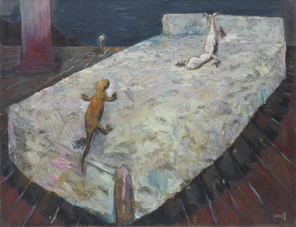 Kong Qian, Bed, 2002; Oil on canvas, 115×150cm