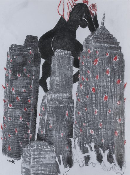 Kong Qian, Large Estate, 2015; drawing on paper, 59.5×44.5cm
