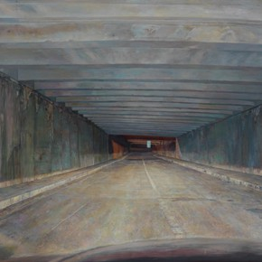 """Lu Liang Safety Passageway 2 2013 2015 Oil on canvas 218x388cm 290x290 - New Gallery of Art presents the group exhibition of """"Scenery Shot – Unrelated to Photography"""" in Shanghai"""